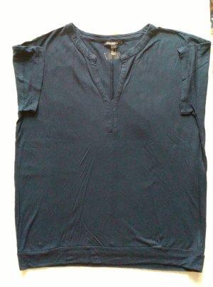 Mango Basics V-hals shirt donkerblauw
