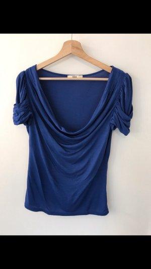Oasis Camisa con cuello caído azul
