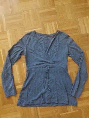 Blaues Shirt von S.Oliver Gr. S Knitteroptik