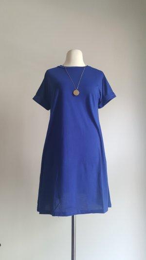 T-shirt jurk blauw