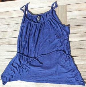 blaues Sommer Top mit Kordel