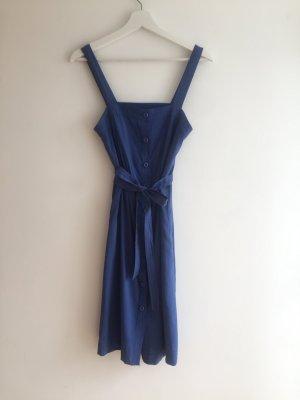 H&M Midi-jurk blauw Viscose