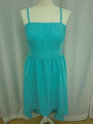 Orsay High Low Dress light blue polyester
