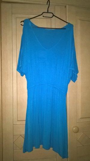 blaues Sommerkleid mit Gummibund
