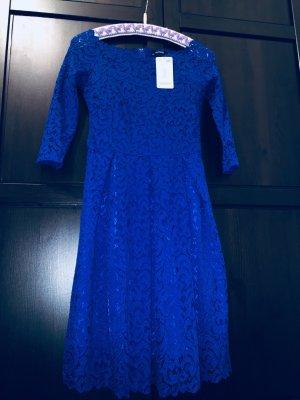 Blaues Spitzenkleid von Orsay in Gr. S neu mit Etikett