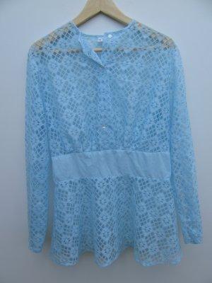 blaues Spitzentop Vintage Retro Gr. 44