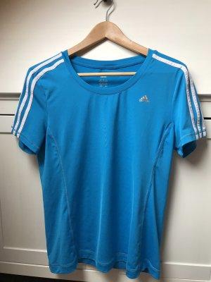 Blaues Sportshirt von Adidas in Größe M
