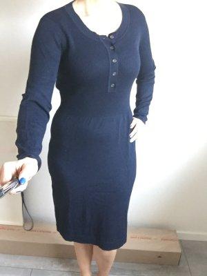 Blaues Strickkleid, knielang von Bonita