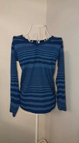 Blaues Sweatshirt mit Streifen von S. Oliver