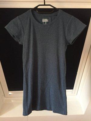 Fishbone Ribbed Shirt steel blue cotton