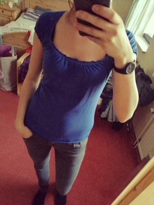 blaues T-Shirt *Mango*