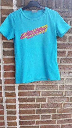 Blaues T-Shirt mit Aufdruck von Carhartt in S