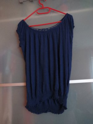 Ann Christine Shirt Tunic dark blue polyester