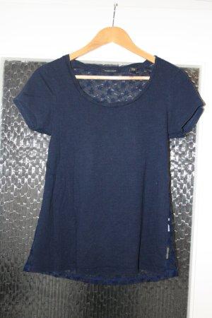 Blaues T-Shirt mit Spitze von Maison Scotch