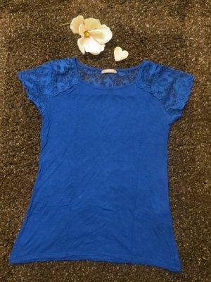 Blaues T-Shirt mit Spitze von Orsay