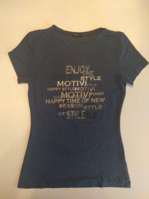 Blaues T-Shirt Mötivi, Gr. S/XS