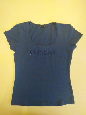 Blaues T-Shirt Mötivi, Gr. XS