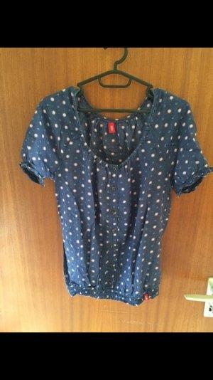 Blaues T-Shirt von edc mit Muster