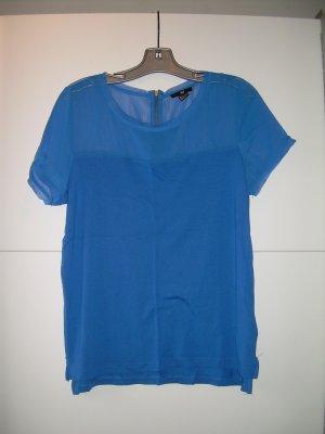 blaues T-Shirt von H&M Gr. L mit transparentem Einsatz