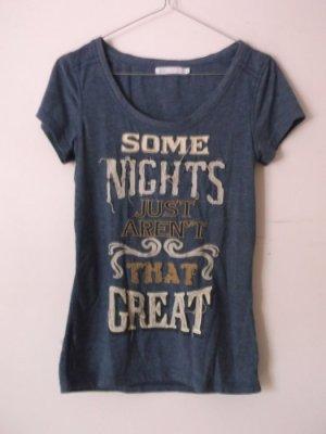 blaues T-Shirt von Only