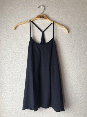 H&M Top de tirantes azul oscuro-azul