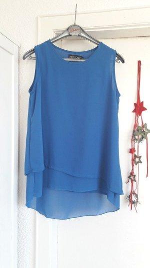 Blaues Top Party Shirt Oberteil Königsblau