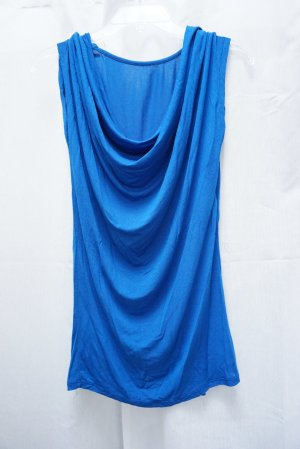 Blaues Top, Wasserfall-Ausschnitt, Strick, knallblau, Gr. S, neuwertig! NP 60€