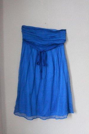 blaues trägerloses Kleid Bandeau Vero Moda