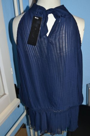blaues transparentes neckholdertop