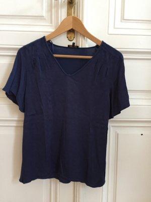Blaues Tshirt, vorne Seidenoptik