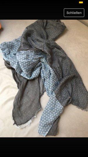 Foulard gris-bleu