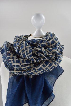 Blaues Tuch mit Muster neu und mit Etikett