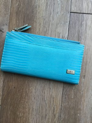 Jackyceline Wallet turquoise-gold-colored