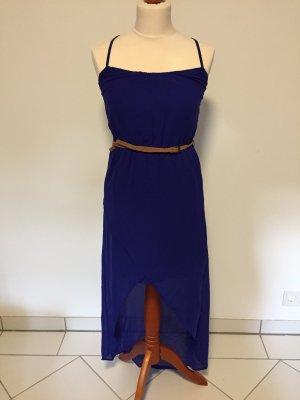 Blaues Vokuhila Kleid