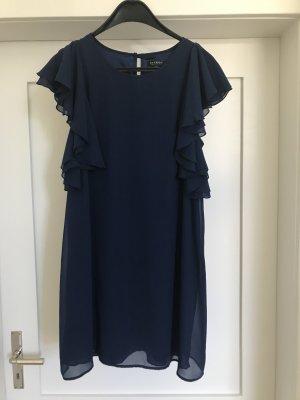 Volante jurk donkerblauw