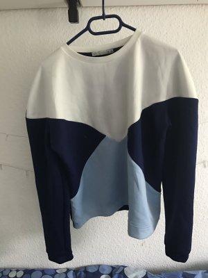 Blaues/weißes Sweatshirt