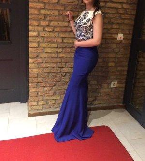 Blaues Zweiteiler Kleid