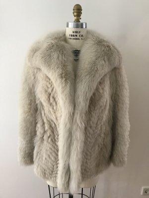 Abrigo de piel blanco puro-negro