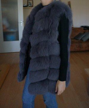 Smanicato di pelliccia grigio-viola-grigio