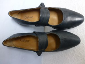 Gabor Mary Janes dark blue leather