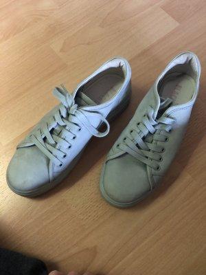 Blackstone Sneakers met veters lichtblauw-leigrijs