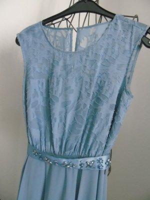 blaugraues Kleid von Zero Gr. 34, mit edlem Gürtel