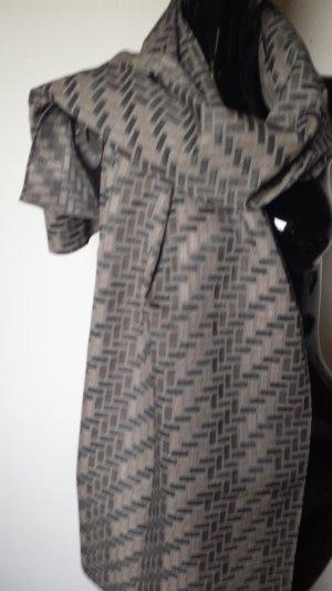 Fringed Scarf slate-gray wool
