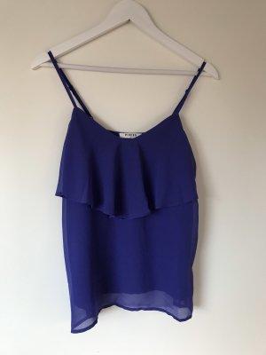 Pull & Bear Haut à volants bleu violet