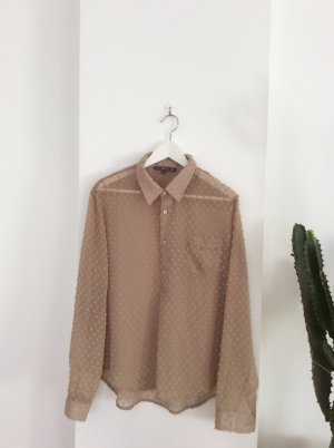 Blaumax Long Sleeve Blouse beige silk