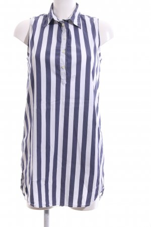 Blaumax Hemdblusenkleid blau-weiß Allover-Druck Business-Look