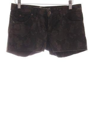 Blaumax Pantalone a vita bassa marrone-grigio-marrone scuro motivo astratto