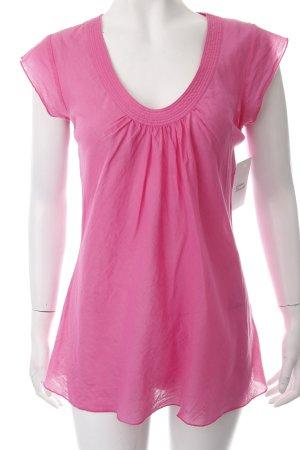 Blaumax Blusa de manga corta rosa estilo romántico
