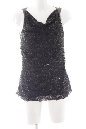 Blaumax Lange top zwart-grijs elegant