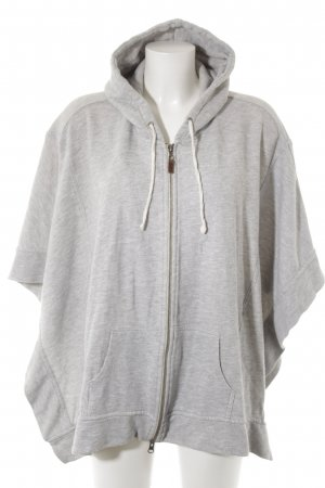 Blaumax Poncho light grey-grey flecked casual look